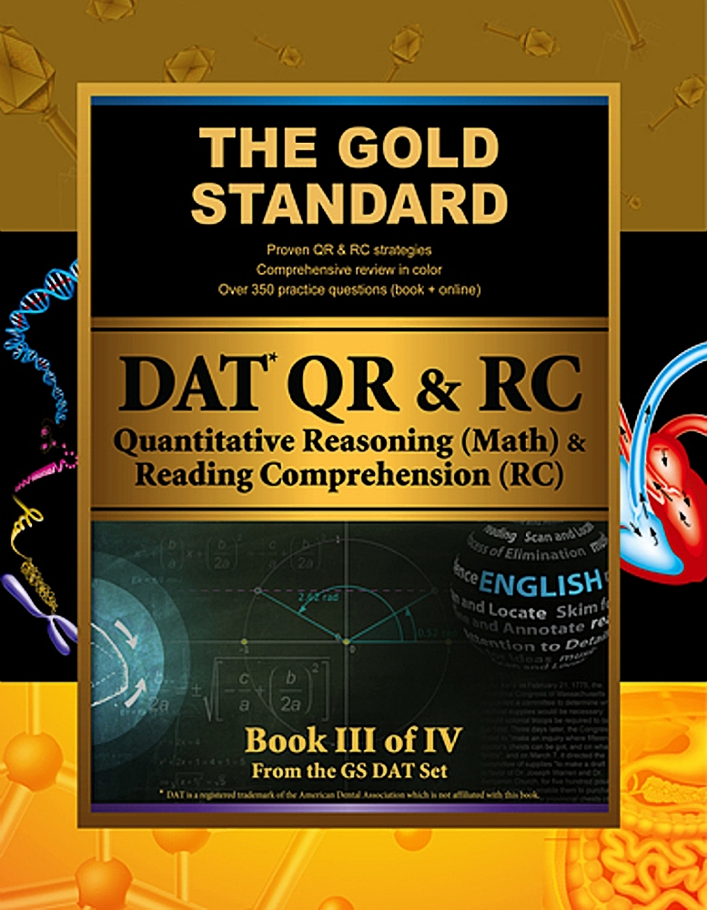 gold standard dat quantitative reasoning qr math and reading